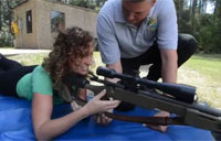 Reporter Tries Out the Sniper Rifle