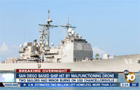 Malfunctioning Drone Hits Navy Ship