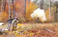 Redneck Logging, with Tannerite!