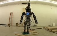 Atlas Robot Walks Over Randomness