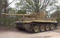 Hand Crank Start Up of German Tiger