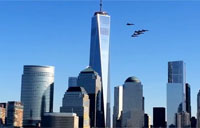 Blue Angels Flyby Near One WTC