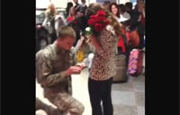 Romantic Airman Proposes at Airport