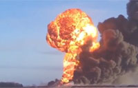 Train Derails and Explodes