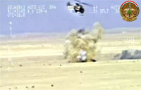 Iraqi Gunship Destroys ISIL Militants