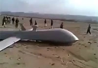 Crashed US Drone Stoned by Afghans