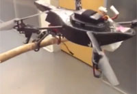 Drone with Legs Can Perch On Branch