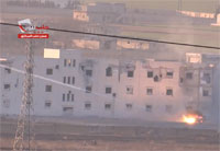 Artillery Strike on Aleppo Central Prison