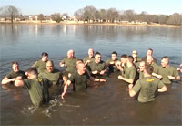 Marines Brave the Polar Bear Plunge