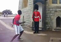 Never Challenge the Queen's Guard