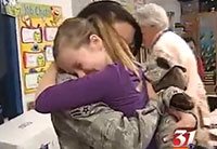 Airman Surprises Daughter at School