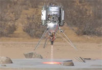 Masten Lunar Lander Catches Fire 2009