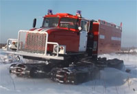 Monster Russian Fire Truck On Tracks