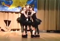 Little Girl Surprised at Dance Recital
