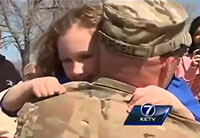 Soldier Surprises Daughter at Soccer Game