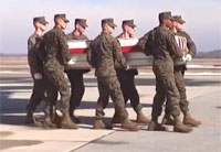 US Marine Corps Dignified Transfer