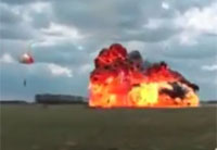 Pilot Ejects from F-18 at Last Second