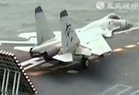 J-15 Jets Take Off from Chinese Carrier