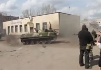 Pro-Russian Tanks Drifting in Ukraine