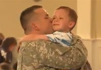 Tears of Joy as Soldier Surprises Kids