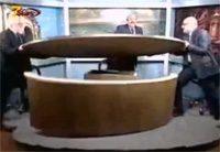 Guests Destroy TV Studio Over Syria