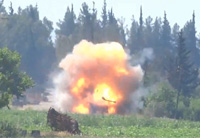 Metis Missile Destroys Anti-Aircraft Gun