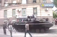 Ukraine Citizens Raid Parked Tank