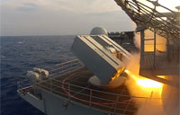 Explosive Sea Sparrow Missile Shoot