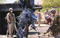 Marines Recover Crashed Harrier