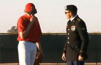 Soldier Stuns Brother On the Mound