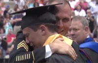 Grad Gets Major Surprise from Army Dad