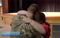 Patriotic Soldier Homecoming Surprise