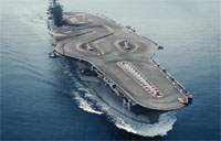 Aircraft Carrier Makes the Ultimate Racetrack