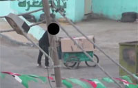 Gaza Rocket Launcher Camouflaged