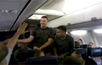 Marine Sings 'Home' by Michael Buble