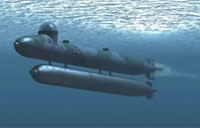 German WWII Mini Submarine in Action