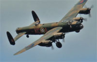 RAF Lancaster Flybys at Shoreham 2014