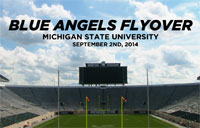 Blue Angels Flyover Michigan State University