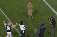 Serviceman Surprises Wife at BYU Game