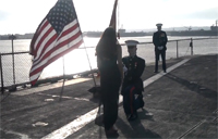 Marine Surprise Proposal on USS Midway