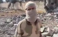 Al-Nusra Fighter at Site of U.S. Air Strike in Syria