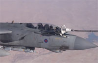 2 RAF Tornado GR4's Refuel Over Iraq