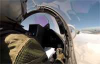 C-135 Refuels 2 Rafale Fighters Over Iraq