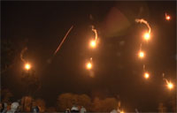 Soldiers Light up the Sky