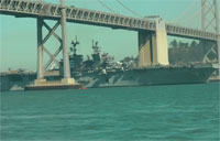 San Francisco Fleet Week: The USS America Docks