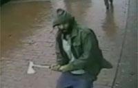 Video Shows Terrorist Ax Attack on NYPD