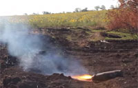 Burning Off an Incendiary Shell in Ukraine