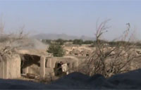 Taliban Mortar Barely Misses US Outpost