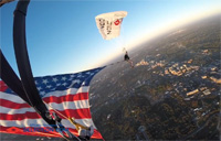 Kyle Carpenter Skydives into D.C.
