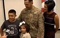 Soldier Surprises His Kids at a School